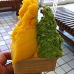 アラモード・キムラ - マンゴーと抹茶のジェラート