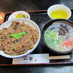 14473977 - 肉丼700円 ミニ中華180円 セットで880円