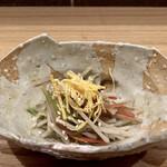 そばがみ - 煎り生酢 蓮根・キクラゲ・人参を炒めて、酢を入れたお出汁で炊いたなますです。 野菜がシャキシャキ、錦糸玉子は彩りとして、胡麻が良い風味です。