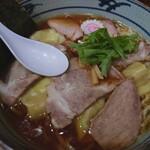 手打ち工房 凌駕 - 2020年12月 手打ちチャーシューワンタン麺(醤油味) 1000円