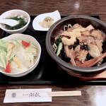 ajinochuukahagoromo - 限定ランチセット「石焼五目焼きそば990円」