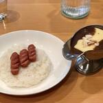 欧風カレー食堂 jizi ジジ - チーズカレー、ソーセージ(3本)