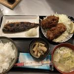 わぶ - 焼魚とカキフライ定食
