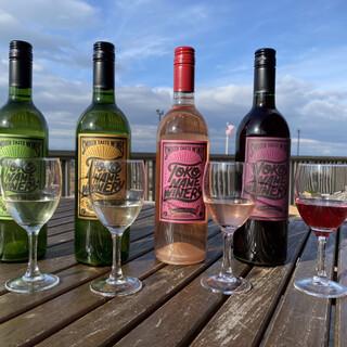 自社醸造の「常滑ワイン」をレストランで提供