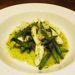 トラットリア ラ・エネルジーア - アオリイカと金針菜