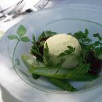 オーベルジュ ド プリマヴェーラ - ランチ前菜 えんどう豆のフラン