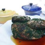 オーベルジュ ド プリマヴェーラ - ランチメイン、チキンの香草焼き 丸ごと一羽きます。