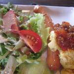 椿屋珈琲店 - ふわふわスクランブルエッグ&新鮮野菜