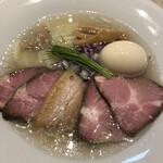 宍道湖しじみ中華蕎麦 琥珀 - 特製中華蕎麦(塩)