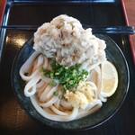 上野製麺所 - ぶっかけ(中・冷)と、舞茸天