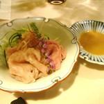 おにく 花柳 - 前菜(サーロイン、冷しゃぶ)