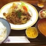 ごはん屋さん - 牛味噌焼き定食