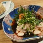 天ぷら・割鮮酒処 へそ - 白子ポン酢