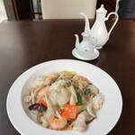 chuugokuryourishisen - 海鮮炒麺