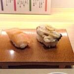 鮨 一輝 - 赤貝とカキ