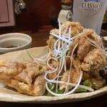刺身居酒屋 なか善 - 若鶏の唐揚げ定食