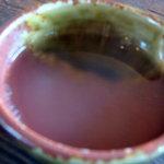 ちくら - 〆にうどんの茹で湯でうどん汁をのばしていただきます