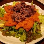144802976 - 黒毛和牛の焼肉サラダ