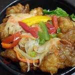 光屋 - 鶏の甘酢あんかけ丼  450円
