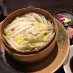 butashabuseiromushisemmontembutashoukitahamatei - 霧島山麓豚と白菜のミルフィーユせいろ蒸し御膳
