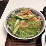 タブチ - サラダ(ドレッシングだばだば)