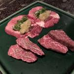 祇園鹿六 - 塩焼きは特選ネギタン塩、カメノコ、マキロース