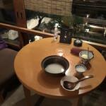 祇園鹿六 - デザートは2階の別室にて