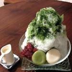 きぃ房茶 - 抹茶のかき氷・白玉&あずきトッピング
