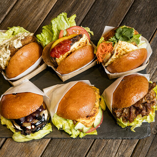 6種類のCBCハンバーガー