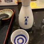 麺闘庵 - 酒(地酒 春鹿極味)