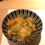 くずし天ぷら玄 - 同席者が選んだ、天茶漬けです。