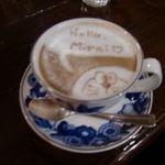 カフェ・フォリオ - ラテアート・ドラえもん
