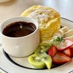 cafe a。u。n - チョコフォンデュ
