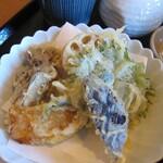 お蕎麦 結 - 旬の野菜天ぷら