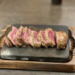 やっぱりステーキ - 料理写真:やっぱりステーキ(ミスジ 150g) 1,000円