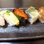つばさ寿司 - 押し寿司は半分です