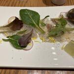 ザ サクラ ダイニング トウキョウ - * 鮮魚のカルパッチョ 550円