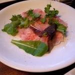 炭と  - 金目鯛のカルパッチョ