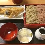 神田錦町 更科 - 二色天せいろ(穴子天)