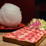 shabushabuyakinikutabehoudaimerino - わたあめとタンしゃぶ肉