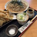 そば処 美幌 - 穴子天ざる 1300円