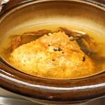 くすのき - 土鍋の中の塩梅用の出汁