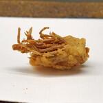 くすのき - 車海老の頭の天ぷら 塩で