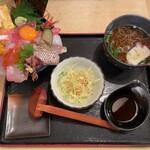 味福 - 贅沢の極み 海の宝石箱 上海鮮丼 1500円 (大盛り無料)
