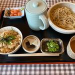 咲家 つる丸 - 瑞穂蕎麦定食1日限定30食