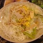 14492035 - 食べ放題のサラダ。チップスのようなのはパパド。