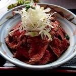 144921417 - 和風ローストビーフ丼のアップ