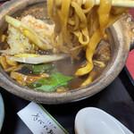 まことや - えび味噌煮込みうどん ¥:1090円