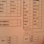 ぎょぎょ丸 - 天ぷらオーダー票
