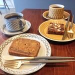 紡ぐ珈琲と。 - バナーヌ、シャッツキステ、コーヒー